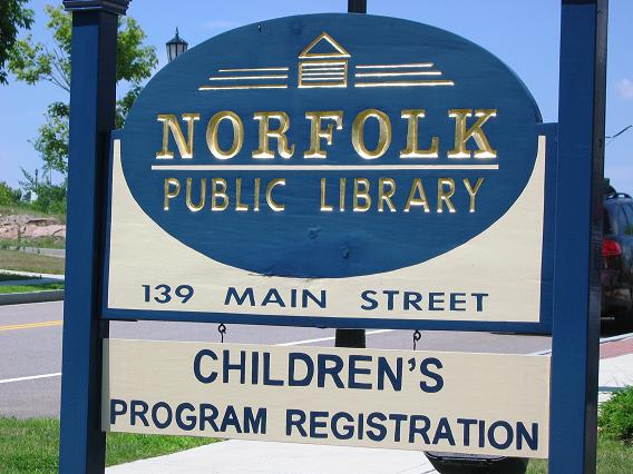 Norfolk Library Sign