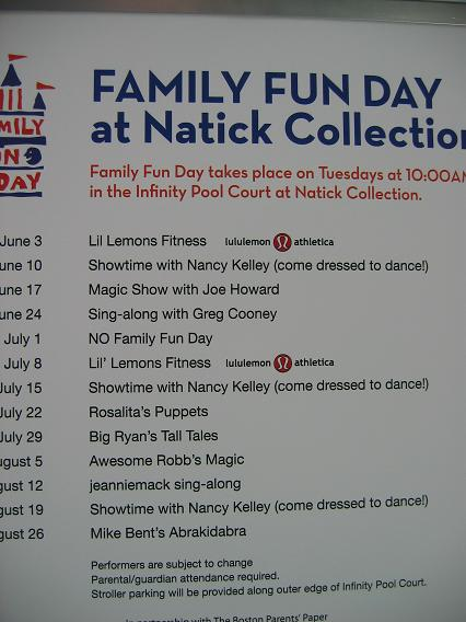 Natick collection sign