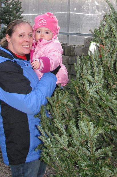 Olivia and Lex buying our tree!